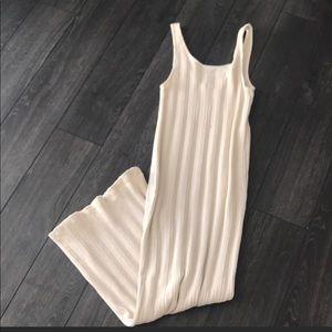 12 hour sale: Cream Knit Dress Size Med / Large